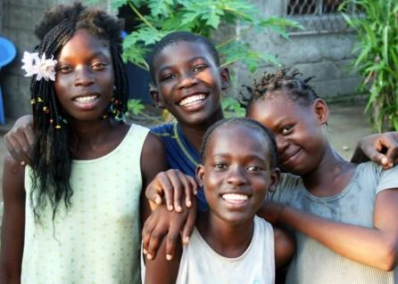 Smiling faces in the Congo
