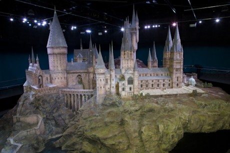 A model of Hogwarts, as seen on the Harry Potter Studio Tour