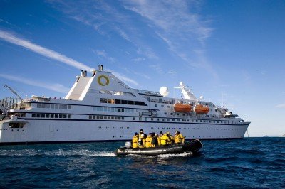 The Ocean Diamond cruise ship