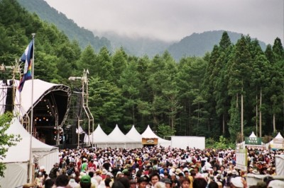 The Fuji Rocks Festival in Japan