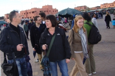 a group in Marrakech