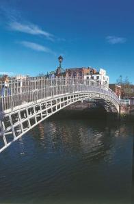 The famous Dublin bridge over the River Liffey