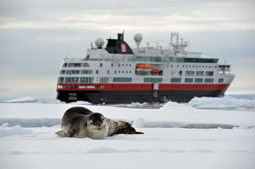 MS Fram in Antartica