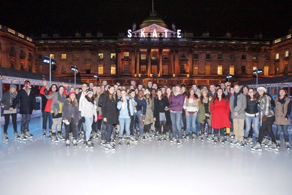 Skating fun at Somerset House, London.