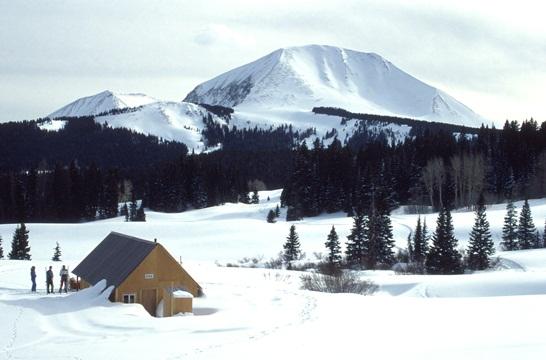 Ski hut in Utah