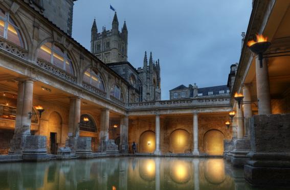 Roman Baths at Night, Bath