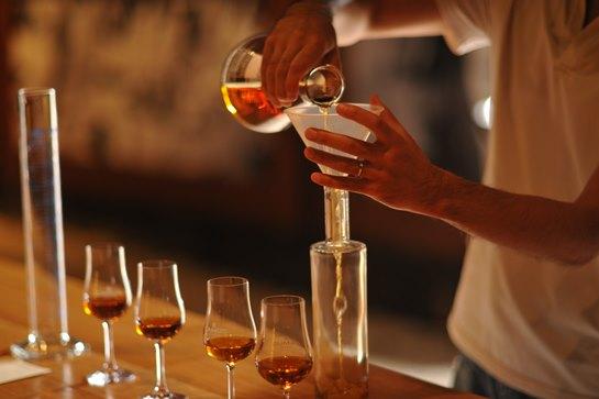 master blender serving cognac