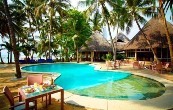 The four star Severin Sea Lodge on Bamburi Beach