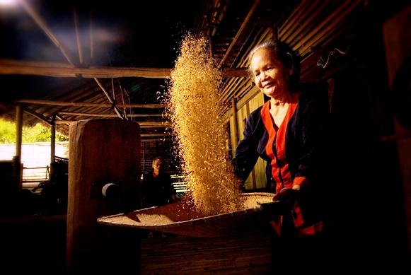 Making food in Sarawak, Malaysia