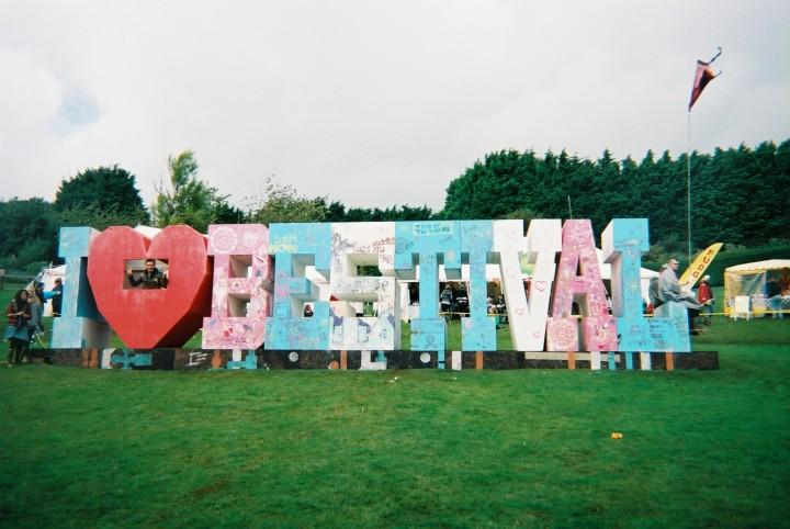 Bestival sign in 2008