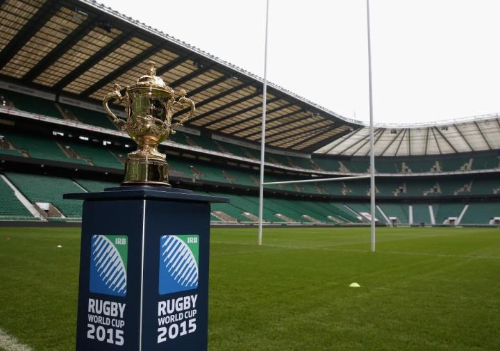 Rugby World Cup trophy at Twickenham