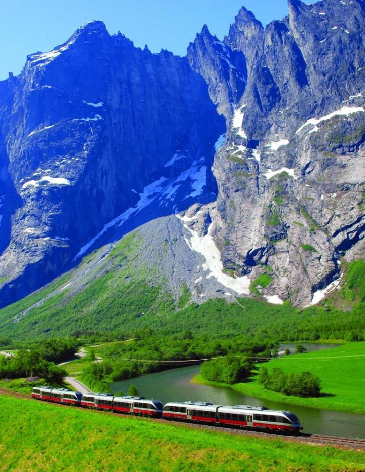 Train journey in Scandinavia