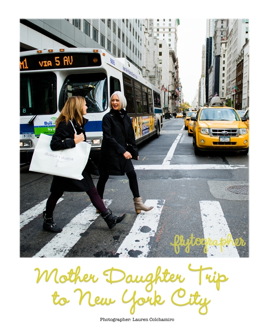 Mother and daughter shopping in New York
