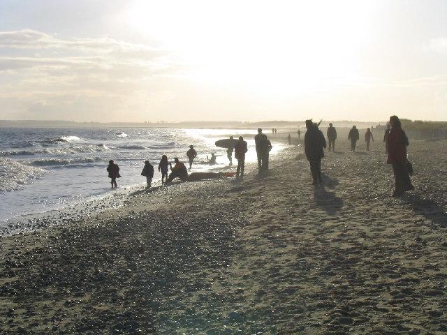 Winter Beach Scene, Walberswick Beach, Suffolk