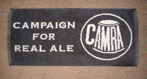 CAMRA bar towel