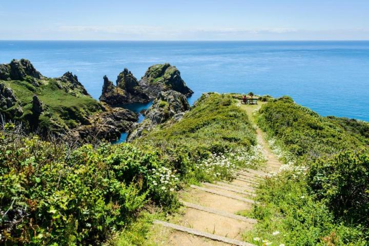 A footpath to sea views on Guernsey