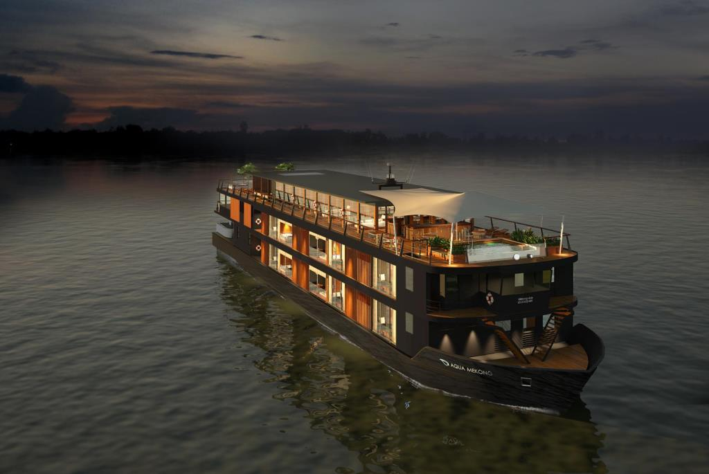 Aqua Mekong river cruise ship from Travel Indochina