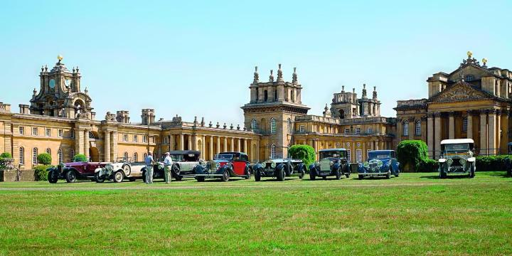 Blenheim cars lined up