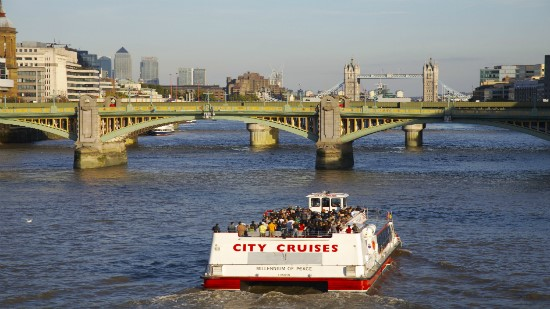 City Cruises boat on Thames