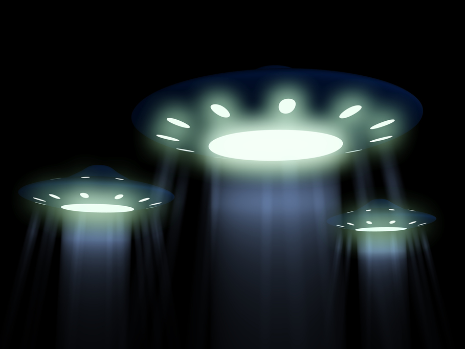 UFOs in the night sky