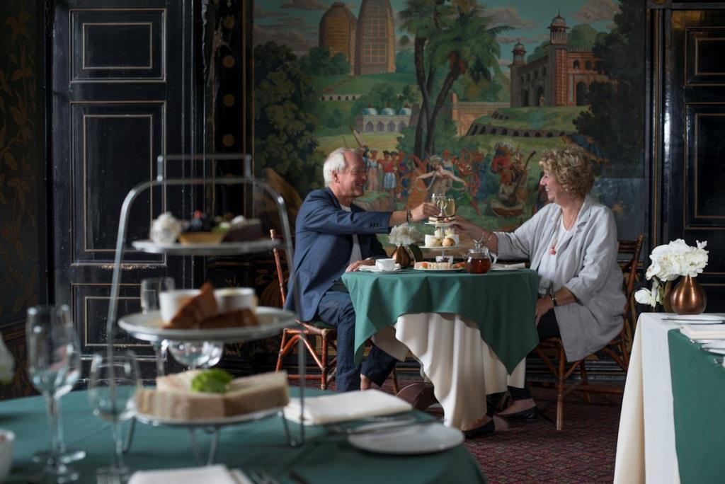Couple having afternoon tea at Blenheim Palace
