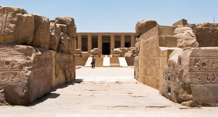 Unique L shaped Abydos Temple, Egypt - credit Discover Egypt