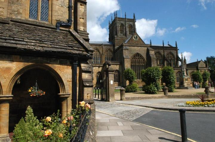 Sherborne Abbey and almshouse