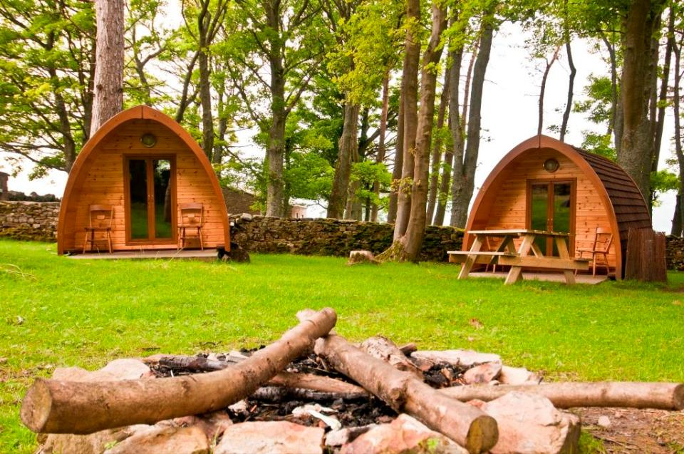 Camping pods at YHA Grinton Lodge
