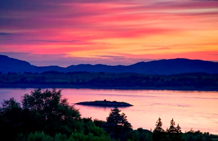 Beautiful Sunset From The Viewpoint Isle Of Eriska - credit Isle of Eriska
