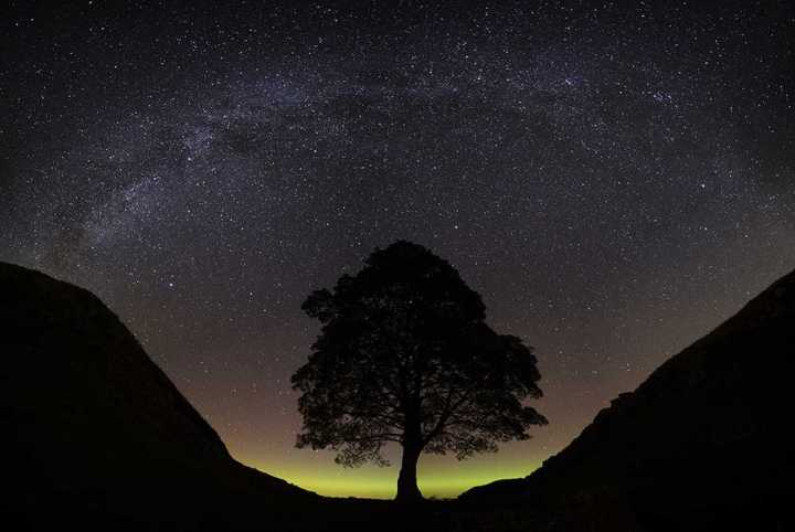 Milky Way over Sycamore Gap, Northumberland