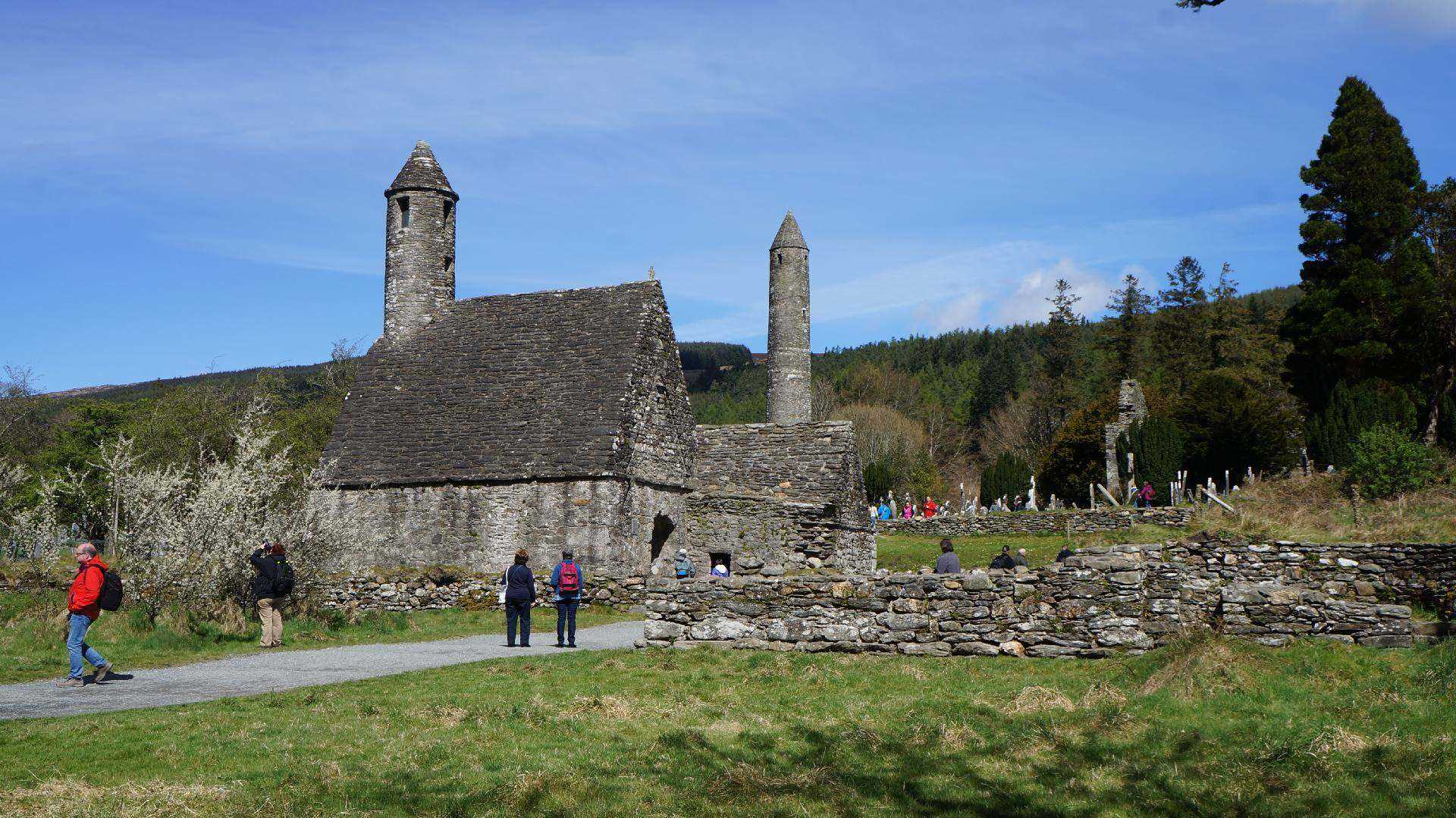 Glendalough monastic city on the Wicklow Way, Ireland