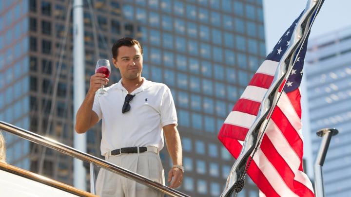 Leonardo DiCaprio plays Jordan Belfort in The Wolf of Wall Street