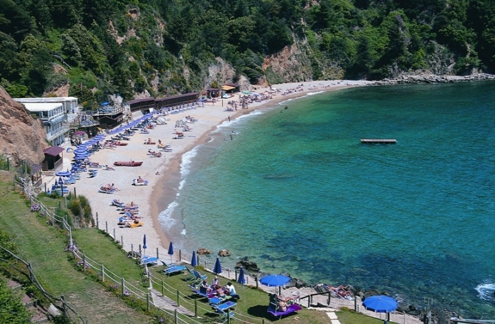 The beach at Lerici, Italy